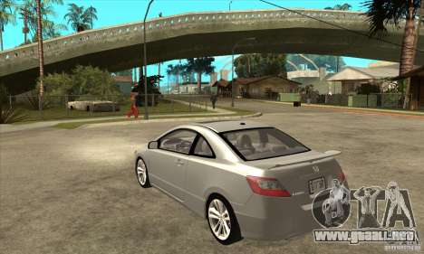 Honda Civic Si - Stock para GTA San Andreas vista posterior izquierda