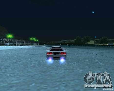 Azik Turismo para GTA San Andreas vista hacia atrás