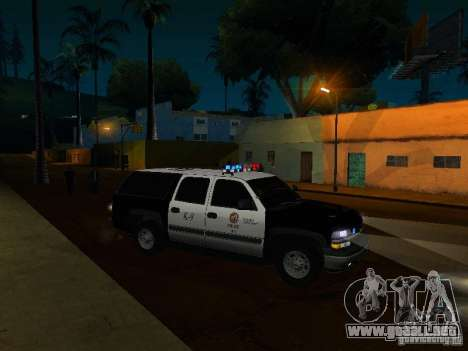 Chevrolet Suburban Los Angeles Police para vista lateral GTA San Andreas