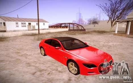 BMW M6 para GTA San Andreas left