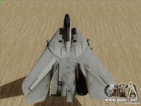 F-14 Tomcat Warwolf para GTA San Andreas vista hacia atrás