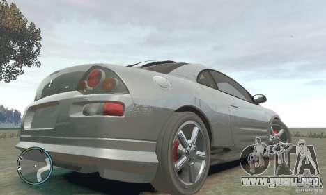 Mitsubishi Eclipse Spyder para GTA 4 Vista posterior izquierda