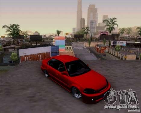 Honda Civic 16 LK 664 para vista lateral GTA San Andreas