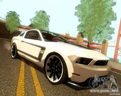 Ford Mustang Boss 302 2011 para la visión correcta GTA San Andreas