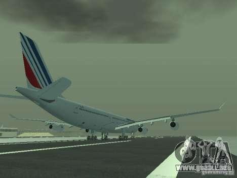 Airbus A340-300 Air France para la visión correcta GTA San Andreas
