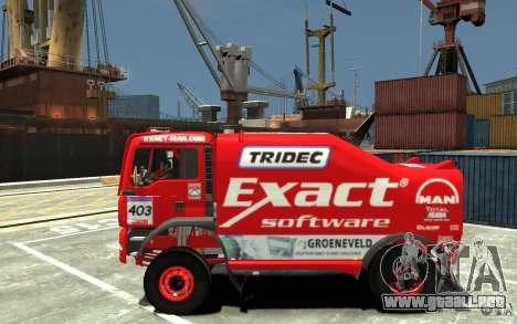 MAN TGA Rally Truck para GTA 4 left