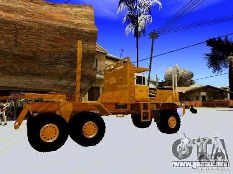 Hayes EQ 142 para GTA San Andreas vista hacia atrás