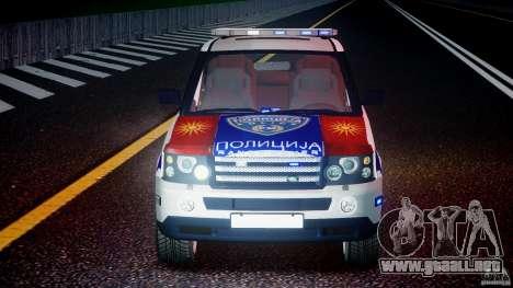 Range Rover Macedonian Police [ELS] para GTA 4 interior