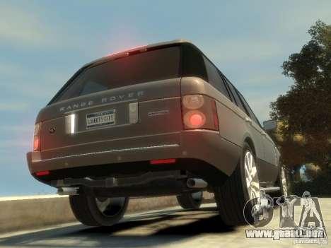 Range Rover Supercharged 2008 para GTA 4 Vista posterior izquierda