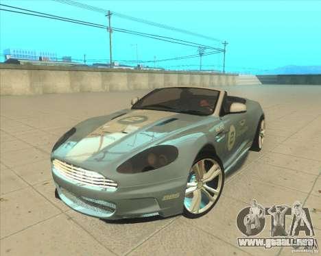 Aston Martin DBS Volante 2009 para GTA San Andreas vista hacia atrás
