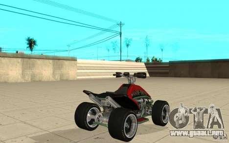 Powerquad_by-piel 2-MF Woofi para GTA San Andreas vista posterior izquierda
