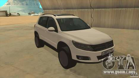Volkswagen Tiguan 2012 v2.0 para GTA San Andreas vista hacia atrás