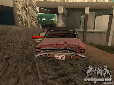 Ford Cortina MK 3 2000E para vista inferior GTA San Andreas