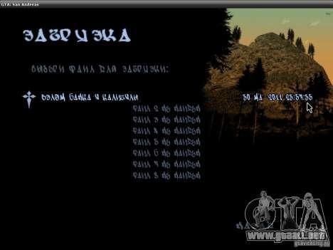 La fuente del NFS MW V2 para GTA San Andreas tercera pantalla