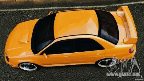 Subaru Impreza WRX STI 2005 para GTA 4 visión correcta
