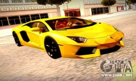 Lamborghini Aventador LP 700-4 para GTA San Andreas vista hacia atrás