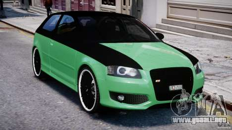Audi S3 para GTA 4 vista superior