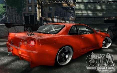 Nissan SkyLine BNR34 para GTA 4 visión correcta
