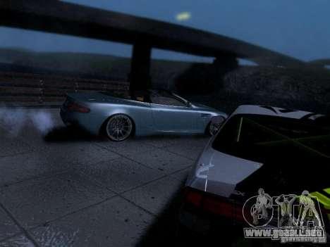 Aston Martin DB9 Volante 2006 para GTA San Andreas vista hacia atrás