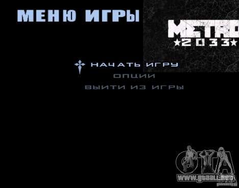 Pantallas de carga Metro 2033 para GTA San Andreas tercera pantalla