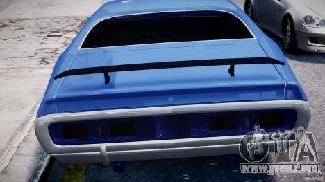 Dodge Charger RT 1971 v1.0 para GTA 4 ruedas