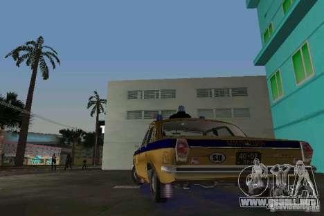 Milicia Gaz-24 para GTA Vice City vista lateral izquierdo