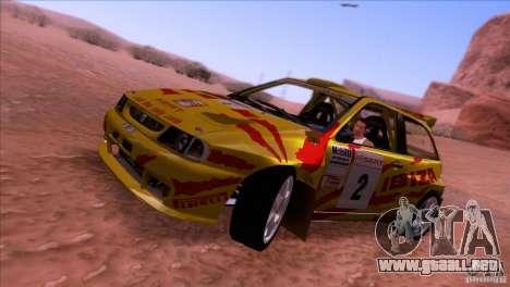 Seat Ibiza Rally para GTA San Andreas vista posterior izquierda