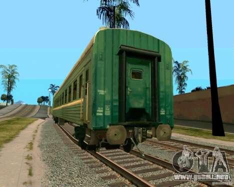 El coche de los ferrocarriles rusos 2 para GTA San Andreas left