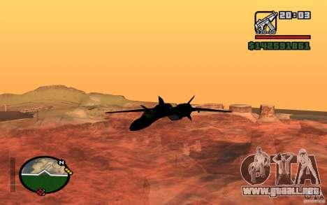 Y-f19 macross Fighter para GTA San Andreas left