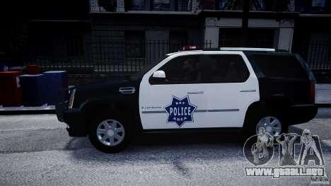 Cadillac Escalade Police V2.0 Final para GTA 4 left