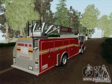 Seagrave Ladder 42 para GTA San Andreas left
