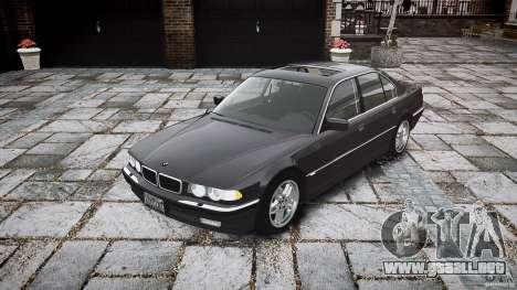 BMW 740i (E38) style 37 para GTA 4 vista hacia atrás