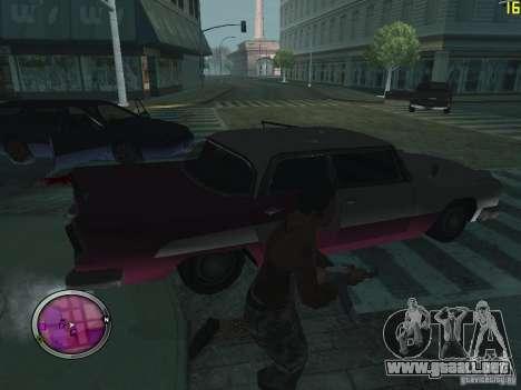 Nueva zona GANGSTER para GTA San Andreas sucesivamente de pantalla