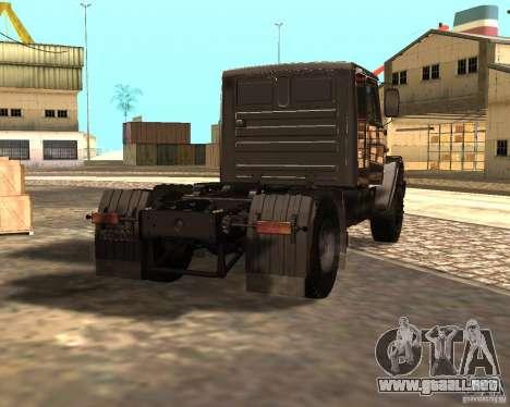 ZIL 5417 para GTA San Andreas vista posterior izquierda