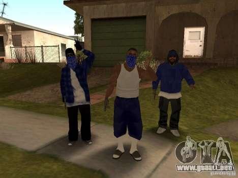Crips Gang para GTA San Andreas segunda pantalla