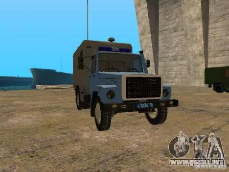 GAZ 3309 patrullero para GTA San Andreas left