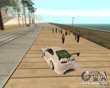 Toyota Supra TwinTurbo para GTA San Andreas vista hacia atrás