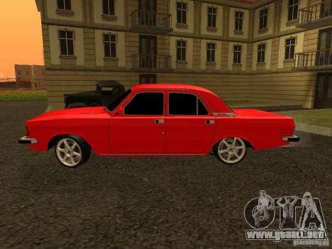Volga GAZ 3102 para GTA San Andreas vista posterior izquierda