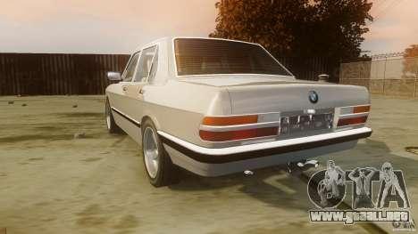 BMW 5-Series E28 para GTA 4 Vista posterior izquierda