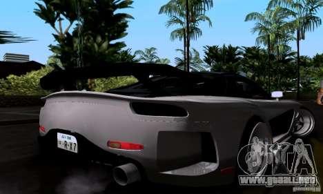 Mazda RX-7 para vista inferior GTA San Andreas