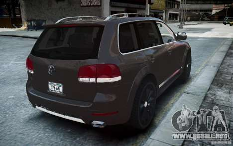 Volkswagen Touareg R50 para GTA 4 Vista posterior izquierda