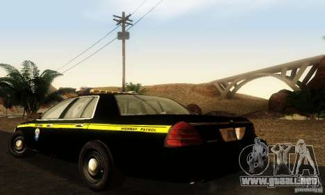 Ford Crown Victoria Montana Police para GTA San Andreas left