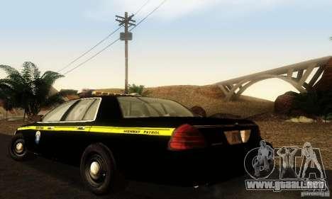 Ford Crown Victoria Montana Police para GTA San Andreas left