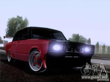 VAZ 2107 coche Tuning para GTA San Andreas vista hacia atrás