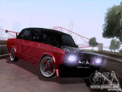 VAZ 2107 coche Tuning para GTA San Andreas