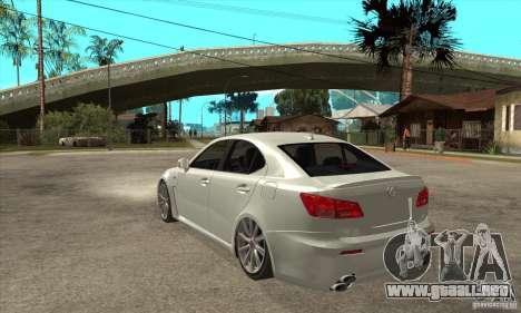 Lexus IS F 2009 para la visión correcta GTA San Andreas