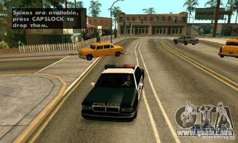 Los clavos en la carretera para GTA San Andreas quinta pantalla