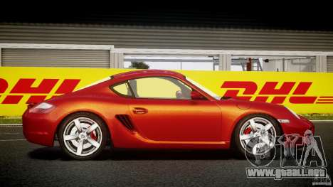 Porsche Cayman S v2 para GTA 4 vista hacia atrás