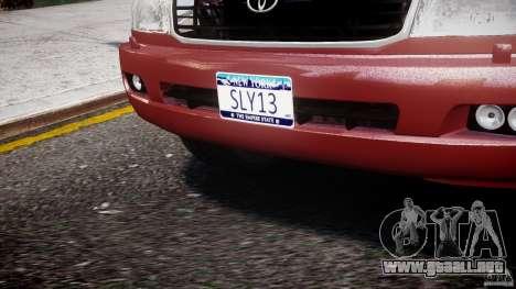 Toyota Land Cruiser 100 Stock para GTA 4 vista desde abajo