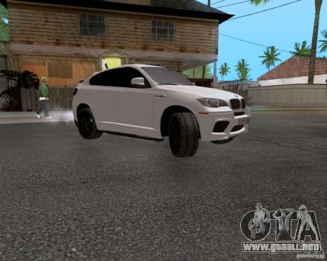 BMW X6 para GTA San Andreas vista hacia atrás